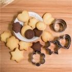 Cookie Cutter Stainless Steel Cookie Cutter with Shape Heart Round Star and Flower (12 Pieces)