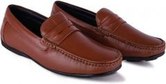 Mens Comfortable & Solid Loafers Shoe For Casual & Party Wear (Tan)