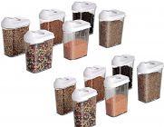 Anja Cereal Dispenser Easy Flow Storage Jar 12 Pcs Set (750 ml Each)
