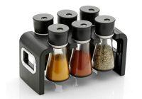 Revolving Plastic Spice Rack Masala Organizer (6 Pcs)