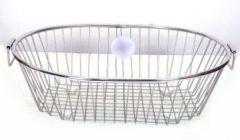 Aquiriosindia Stainless Steel Utensil Drainer/Dish Drying Rack/Plate Stand/Kitchen Utensils Basket Round Shaped