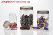 3pcs Stone Jars Set (Big 1200ml, Medium 600ml & Small 250ml size)