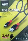 KDM U19 2.4A Fast Charging USB Cable For All Micro Mobile Phones and Devices Pack of 1