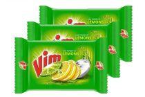 Vim Strong bar for utensils Gentle on Hands Lemon Bar (200 gm) | (Pack of 6)