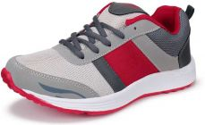 High Quality Mens Sports & Casual Running Shoes Suitable For All Kinds Of Sports (Color: Grey) -Vivo_Air_Red