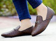 Bxxy Men's Stylish Slip-on   Crocodile style Moccasins Shoes