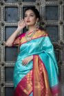 Silk Saree With Beautiful Rich Pallu On All Over Saree With Blouse Piece