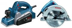 Bosch Gho 6500 Professional Planer With Gks 7000 Circular Saw Combo (Pack Of 2)
