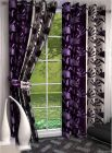FasHome Polyester Fabric Curtain Eyelet Fitting Printed Style Perfect for Door 150cm x 115cm (Multicolor) | (Pack of 1)