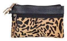 ASPENLEATHER Wristlet Bag for Womens (Gold)