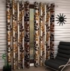 FasHome Polyester Fabric Curtain Eyelet Fitting Printed Style Best for Door 150cm x 120cm (Multicolor) | (Pack of 1)