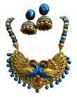 Hydes Blue Terracotta Necklace Set for Women