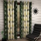 Curtains of Polyester Fabric Rod Pocket Fitting for Doors Length of 84inch (Set of 2)