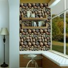 3-D Stone Design Wall Sticker | Self Adhesive Wallpaper for Bedroom | Wallpaper Sticker Roll