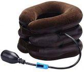 Nilkanth Fashion Portable Neck Pillow Three Layers Tractor Massager Excerciser for Cervical Spine Neck Back Shoulder Pain (Black)