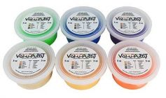 Albio Exercise Therapy Putty (Val-u-Putty) Set of 6 Colors (Different Resistance)