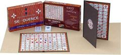 Ethnic Forest Wooden Sequence Party & Fun Board Game |Make A Sequence Board Game | Family Card Game for Adults Kids Sequence Game