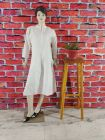 WACA Stylish & Fashionable 100% Cotton Full Sleeves Designer Fancy Kurti With Chikankari Embroidery for Women's (Pack of 1)   (Color: Pearl White)