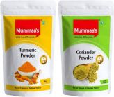 Mummaa's Coriander Powder (500g X 1) + Turmeric Powder (500g X 1)