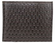 ASPENLEATHER Bi-Fold Embossed Leather Multi Features Wallet For Men With Side Flap (Chocolate)