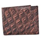 ASPENLEATHER Bi-Fold Genuine Stylish Embossed Leather Wallet For Men With Side Flap (Brown)