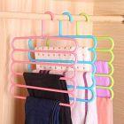 5 in 1 Multipurpose Plastic Hanger, Assorted (5-Layer)