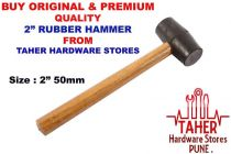 Ths 2 50Mm Dia Hammer Solid Rubber Hammer Mallet, Automotive, Tool & Industrial, Office Maintenance, Janitorial & Lunchroom (Package Contains: 1Pcs 2 Rubber Hammer)