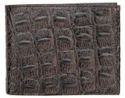 Splash USA Bi-Fold Genuine Stylish Embossed Leather Wallet For Men With Side Flap (Chocolate)