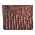 ASPENLEATHER Bi-Fold Stylish Embossed Leather Wallet For Men With Side Flap (Brown)