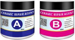 Appacker Ceramic Repair Agent A&B Set Strong Adhesive Glue Non-Toxic Immediate Wall Crack Repair