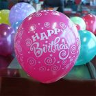 Genric Happy Birthday Printed Letters Theme Birthday Party Decoration Balloons ( Pack of 25 Pieces)