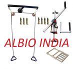 Albio T Shoulder Pully Set + Shoulder Wheel Compact with Wrist Exerciser + Finger Exerciser Hand Gripper