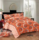 Hydes 100% Pure Cotton Bedsheet with 2 Pillow Covers - Super King Size 7.5 Feet by 9 Feet 186 TC for Double Bed Sheet Peach