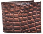 ASPENLEATHER Bi-Fold Embossed Leather Multi Features Wallet For Men With Side Flap