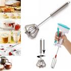 Krivish Multicolor Combo Plastic & Steel Hand Blender Egg Beater Dal Mathni Butter Milk & Lassi Maker Hand Mixi Churner (2 Pcs)