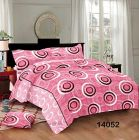 Hydes 100% Pure Cotton Bedsheet with 2 Pillow Covers - Super King Size 7.5 Feet by 9 Feet 186 TC for Double Bed Sheet Pink