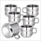 Stainless Steel Tea/Coffee Cups Pack of 6 (150 ml)