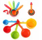 Krivish Colorful Plastic Measuring Cups For Kitchen Cooking and Baking - (Set of 5)