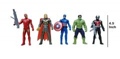 WON Avengers Toys Set - Captain America, Iron Man and Thor - Infinity War 3 Hero Collection (Multicolour)