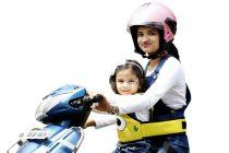 Kidsafe Two Wheeler Child Safety Seat Belt, Cool Yellow Eyes