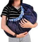 Move On 4-in-1 Polycotton Adjustable Baby Carrier Sling Backpack Bag (Blue)