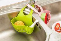 Nilkanth Fashion Plastic Hanging Drainage Bag Shopping Cart Sink Soap Dish Sponge Holder (Multi)