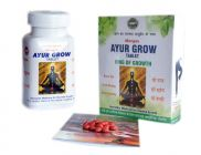 Natraj The Right Choice Ayur Grow Tablet For Body Growth Ayurvedic Height Supplement - 270 Tablets