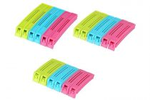 Krivish 3 Size Small, Medium & Large Plastic Food Snack Pouch Sealing Clips (Multicolor) - (18 Pcs)