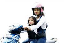 Kidsafe Two Wheeler Child Safety Seat Belt, Cool Plain Green