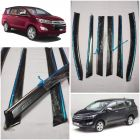 Speed 99 ~ RPM  Chrome Door Visor Compatible With Toyota Innovation Crysta Set Of 6