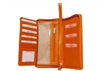 Kashan's Women's Wallet Zipper with Handle Women's Clutches & Wallet (Orange)