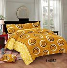 Hydes 100% Pure Cotton Bedsheet with 2 Pillow Covers - Super King Size 7.5 Feet by 9 Feet 186 TC for Double Bed Sheet Yellow