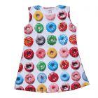Chocoberry Girls' Midi Dress - Multi-Color