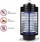 Nilkanth Fashion Mini Home Mosquito Lamp Fly Killer No Radiation Electronic Mosquito Black 110V Catching Machine with Night lamp (Black)